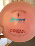 My one and only CE disc- an opaque Innova Leopard.  LOVE this bad boy!!!