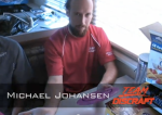 Michael Johansen talks about his grip... I wish he was playing the Vibram!  It would make this picture a bit more relevant...